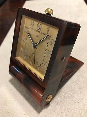 Le Coultre SWISS Travel WATCH ALARM CLOCK WATCH OLD ORIGINAL Jaeger-LeCoultre
