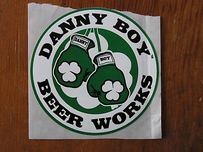 Danny Boy Beer Works Sticker ~NEW! Craft Beer Brewery Brewing Co Logo Decal~ IPA