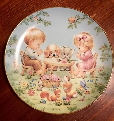 "Danbury Mint Plate - ""life's Little Blessings"" By Ruth Morehead"