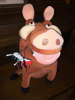 "17"" LION KING Disney Plush PUMBAA"