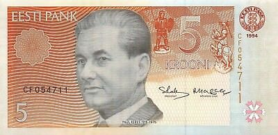 Estonia 5 krooni, 1994 (1997) P.76 Uncirculated Unc