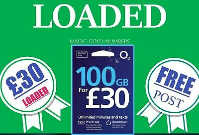 £10 Pounds Preloaded O2 Pay As You Go Sim Card With £10 Credit Deal Offer New