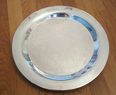 VINTAGE EPCA BRISTOL Round with legs SILVER PLATE BY POOLE