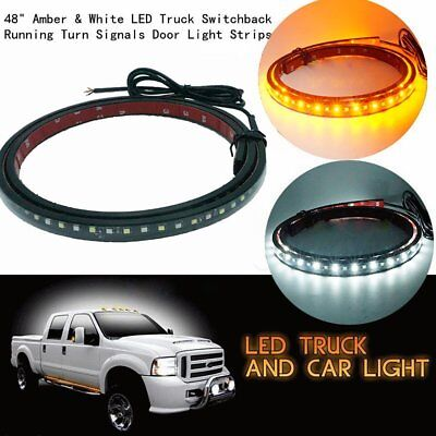 """2X For Ford F-150 F150 1999-2017 48/"""" Led Running Board Step Side Door Light Bar"""