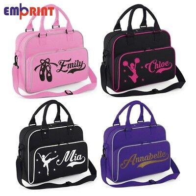 Personalised Dance Bag Kids Girls Gymnastics Childrens Glitter Ballet School