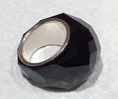 SIGNED SWAROVSKI JET BLACK CRYSTAL NIRVANA  RING SM 52 NEW IN BOX RARE 33% Off