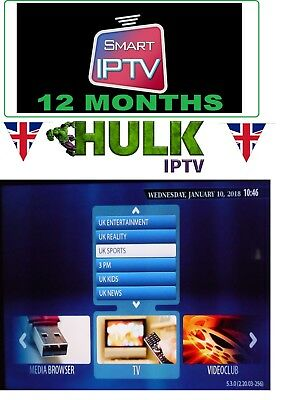 12 Month IPTV Subscription Warranty + VOD MAG, SmartTV - all i need is mac code
