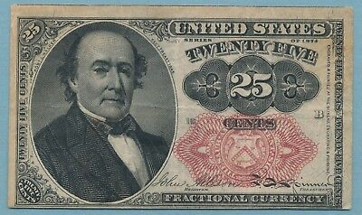 25 Cent US Fractional Currency 5th Issue 1874 Fine FR #1308  Free Ship