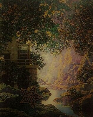 "VTG Maxfield Parrish Art Print TONED Landscape ** 9"" x 12"" ** SEE VARIETY"