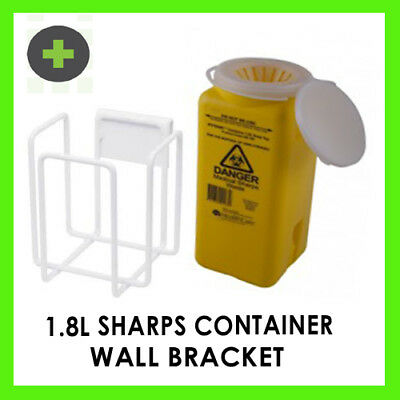 1.8l Sharps Container and Wall Mount Bracket