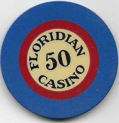 Very Nice Illegal Crest & Seal Casino Chip From FLORIDIAN 50-Miami, Fl. Closed