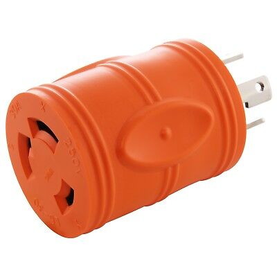 Compact Generator Adapter NEMA L14-30P to NEMA L6-30R by AC WORKS™