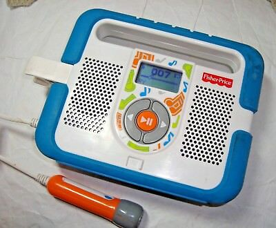 Fisher Price Kid Tough Child's MP3 Music Player Microphone Karaoke Stereo WORKS