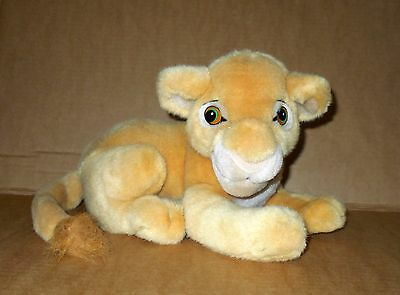 "Disneyland Walt Disney World The Lion King Simba 12"" Long Soft Plush Toy"