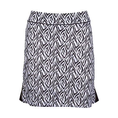 Greg Norman Ladies Empire Tiger Knit Golf Skort Print in Black and White - NEW