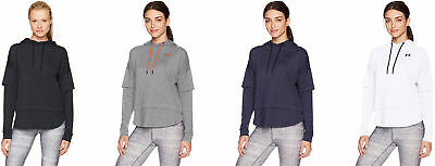 14cd191bff UNDER ARMOUR WOMEN'S Featherweight Fleece 2-in-1 Hoodie, 4 Colors ...