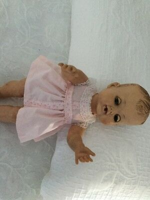 Vintage Madame Alexander 12in Baby Doll Drink & Wet w/ Molded Hair 1950's Kathy