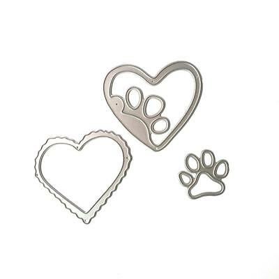 New Heart Dog Palm Metal Dies Stencil Hand Craft Scrapbooking Card DIY~