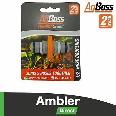 "AgBoss ThermaShield 1/2"" 2-Way Hose Coupler"
