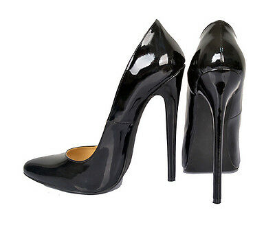 Sexy Womens Patent Leather 16cm High Heels Pointed Toe Nightclub Shoes Size 6-12