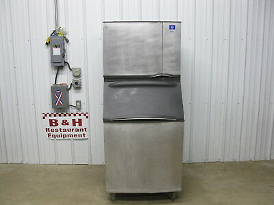 Manitowoc SY0454A Stainless Steel Air Cooled Ice Maker Machine w/ B570 Bin