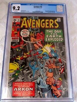 Marvel Comics-The Avengers #76-Cgc- 9.2-Early Bronze Age-Black Widow-Arkon