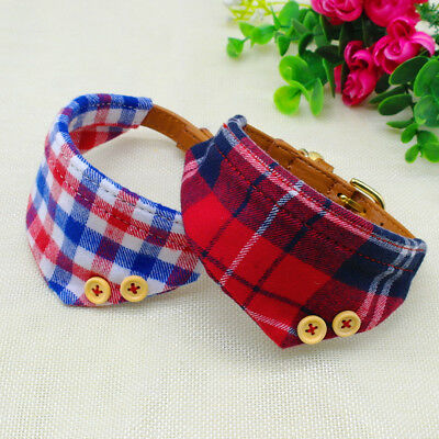 Bandana-Style Small Dog Collar Cotton Neckerchief Adjustable for Pet Puppy Cat