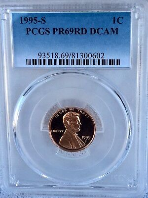 1995-S Lincoln  Proof PCGS PR69RD DCAM  Shipping $$ on First Coin Only