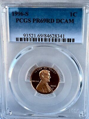 1996-S Lincoln  Proof PCGS PR69RD DCAM  Shipping $$ on First Coin Only
