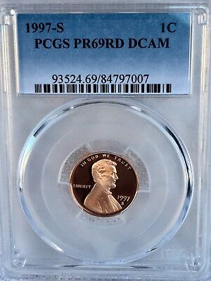 1997-S Lincoln  Proof PCGS PR69RD DCAM  Shipping $$ on First Coin Only