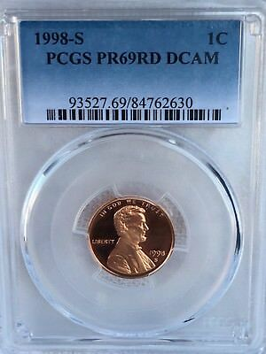 1998-S Lincoln  Proof PCGS PR69RD DCAM  Shipping $$ on First Coin Only