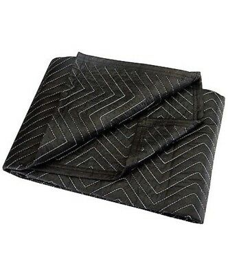 """40"""" x 72"""" MOVERs BLANKET BLACK poly & cotton PaDDeD Quilted furniture Moving Pad"""
