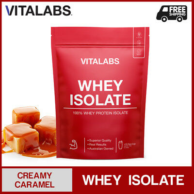 3KG WHEY PROTEIN ISOLATE POWDER WPI 100% PURE - Creamy Caramel