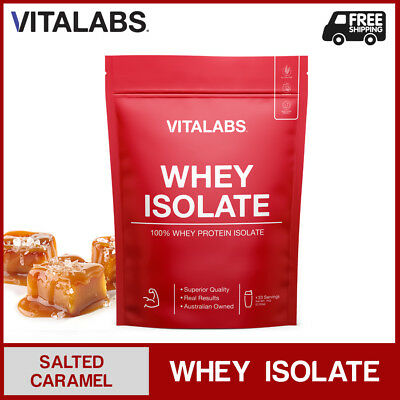 3KG WHEY PROTEIN ISOLATE POWDER WPI 100% PURE - Salted Caramel