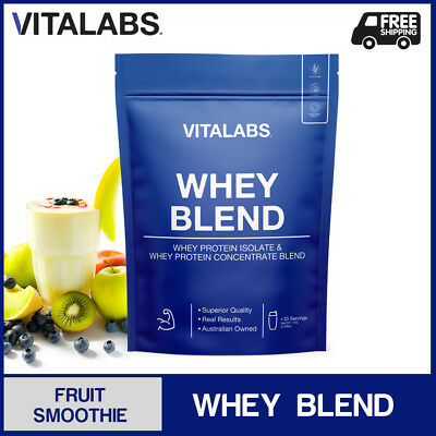 3KG WHEY PROTEIN POWDER WPC/WPI 100% PURE - Fruit Smoothie