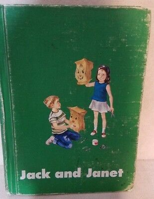 Vintage 1966 Jack And Janet Book Ex Library Childrens Primer