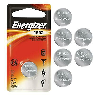 6 Pack Energizer CR1632 3V Lithium Battery CR 1632 Long Life Long Lasting Coin