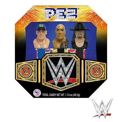 WWE PEZ Dispenser Giftset contains 3 Dispensers (BRAND NEW)