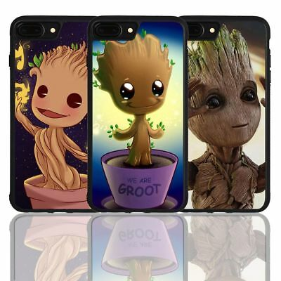 Groot Guardians of the Galaxy Cute Silicone Cover Case for iPhone 7 8 X Plus