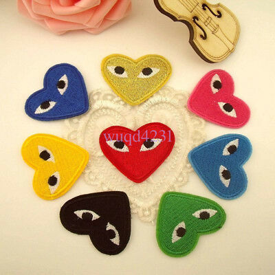 Embroidery Comme Des Garcons Sew Iron On Patch Badge CDG PLAY Japan Love Heart