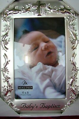 NIB 4 X 6 Baby's Baptism Picture Frame by Malden