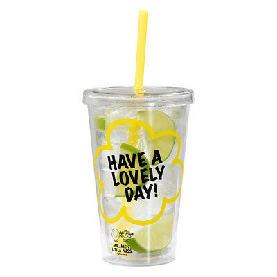 Sunshine Insulated Tumbler Juice Cold Strew Cap Drinks Tumblers Pack Yellow Lime