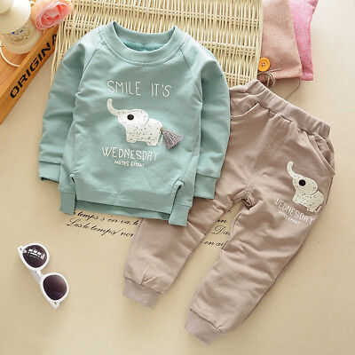 Kids Baby Boys Clothing Sets Toddler Boy Girl Clothes Outfits Suits Tops + Pants