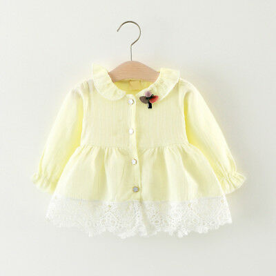 Kids Baby Girl Girls Tops Blouses Clothes Clothing Infant Toddler Cotton Shirts