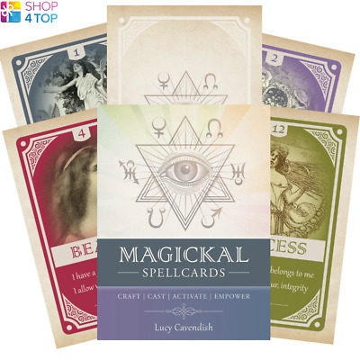 Magickal Spellcards Cards Deck Spells Esoteric Fortune Telling Blue Angel New