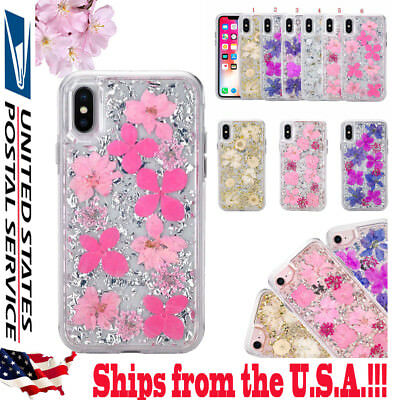 Shockproof Karat Petals Real Dried Flower Petal Case For iPhone 6/7/8  Plus X 10