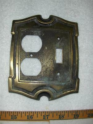 Vtg Brass Switch Plate/ Outlet Plate