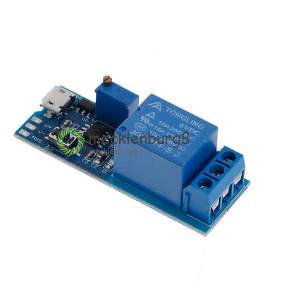 New 5V~30V Micro USB Power Relay Timer Control Module Trigger Delay Switch