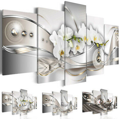 5Pcs Flower Giclee Art Canvas Print Modern Abstract Painting Wall Home Decor