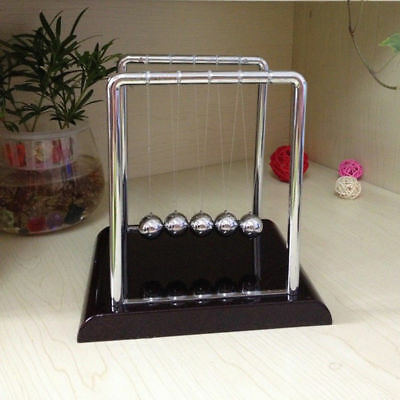 Newtons Cradle Balance Balls Physics Pendulum Science Classic Desk Office Toys